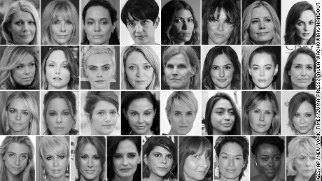 Pictured are some of the more than 80 women who have accused Weinstein of sexual harassment or assault.