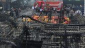 Forensic police work at the site of a fireworks factory explosion on the outskirts of the Indonesian capital, Jakarta, on Thursday.