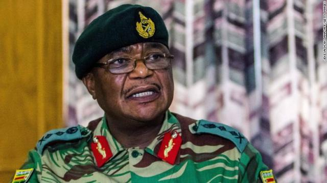 ZDF General Constantino Chiwenga speaks at a rare media conference in Harare on Monday.