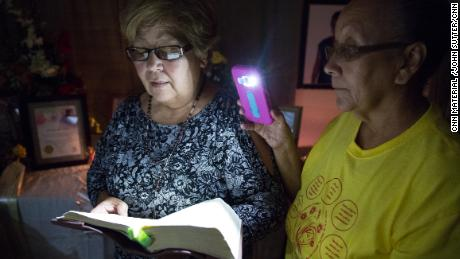 The power went out while neighbors and family members were memorializing Vidal earlier this month.