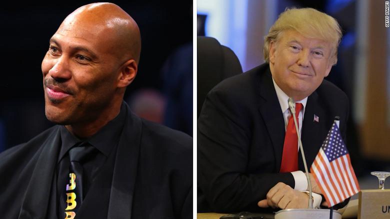 Image result for Trump on Lavar Ball's remarks: 'I should have left them in jail!'