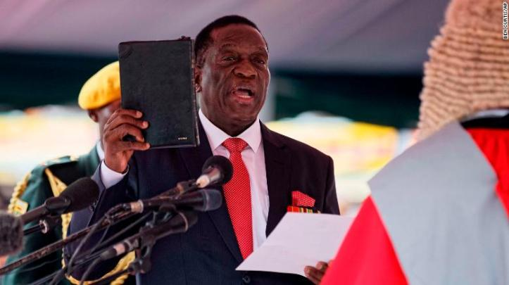 """Emmerson Mnangagwa <a href=""""http://edition.cnn.com/2017/11/24/africa/mnangagwa-swearing-in-zimbabwe/index.html"""" target=""""_blank"""">is sworn in</a> on Friday, November 24, 2017, as interim President of Zimbabwe during a ceremony at the National Sports Stadium in the capital, Harare. Mnangagwa becomes leader of the country after former President Robert Mugabe's <a href=""""http://edition.cnn.com/2017/11/15/africa/gallery/zimbabwe-political-unrest/index.html"""" target=""""_blank"""">historic resignation</a>."""