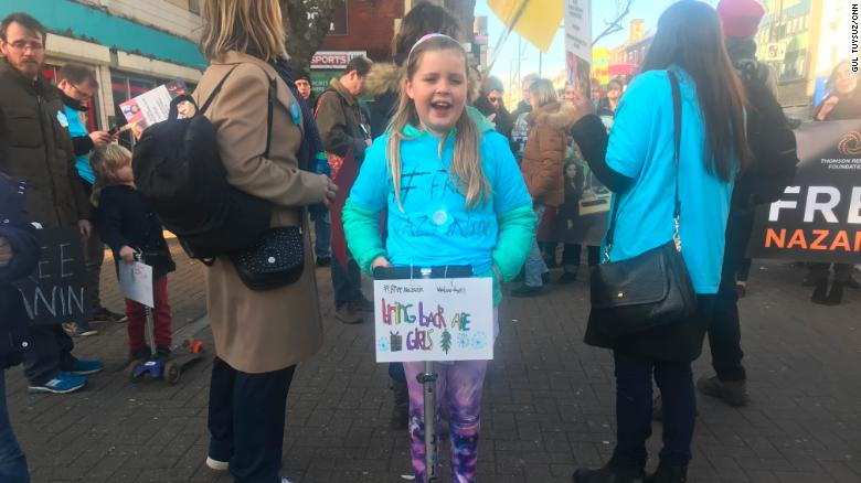 Rosie Ratcliffe, the 10-year-old niece of Nazanin Zaghari-Ratcliffe, calls for her release.