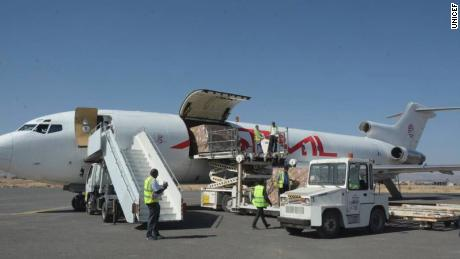 Vaccines and aid workers arrive in Yemen after blockade