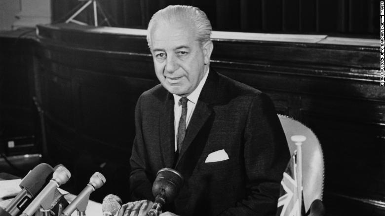 Australian Prime Minister Harold Holt during an official visit to London, July 7, 1966.