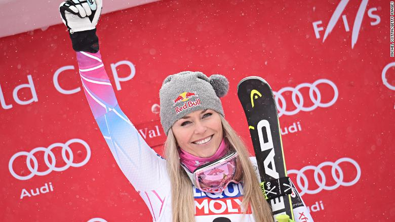 Lindsey Vonn won her first World Cup race since Janury 2017.