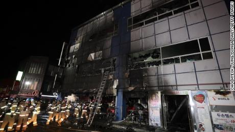 South Korea fire: 29 killed as flames rip through Jecheon building