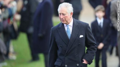 Prince Charles attends Christmas Day Church service at Church of St Mary Magdalene.