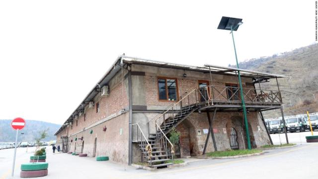 The library is housed in an old brick factory at the headquarters of the city's sanitation department.