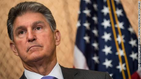Sen. Joe Manchin is seen during a news conference on Capitol Hill in June 2017.