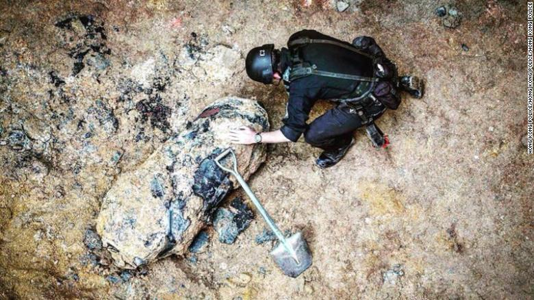 The bomb was found at a construction site in Hong Kong's Wan Chai district on Saturday.