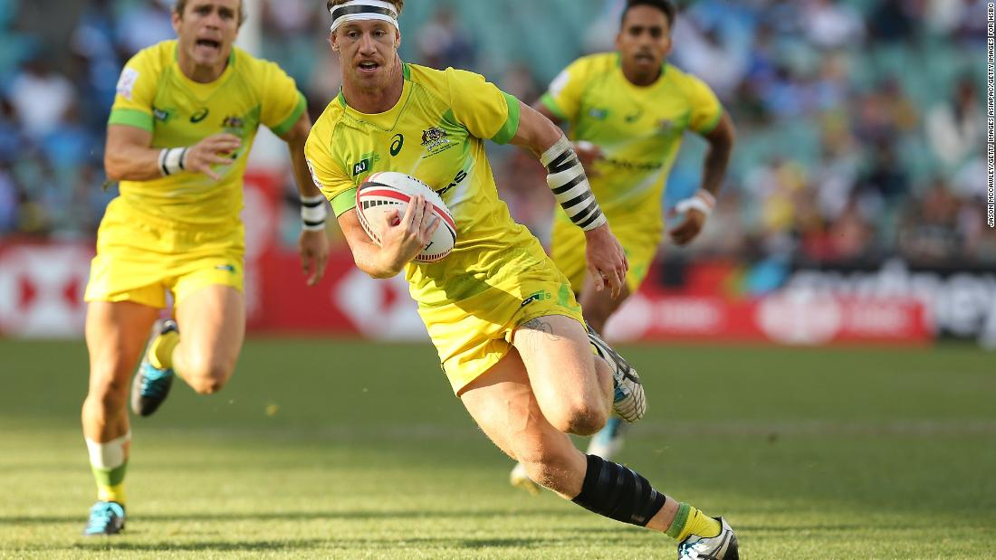 """There was more good news to come for home fans. The men <a href=""""https://edition.cnn.com/2018/01/29/sport/sydney-australia-rugby-sevens-world-series/index.html"""">eased past South Africa 29-0</a> in the final, with Ben O'Donnell (pictured) grabbing a brace."""
