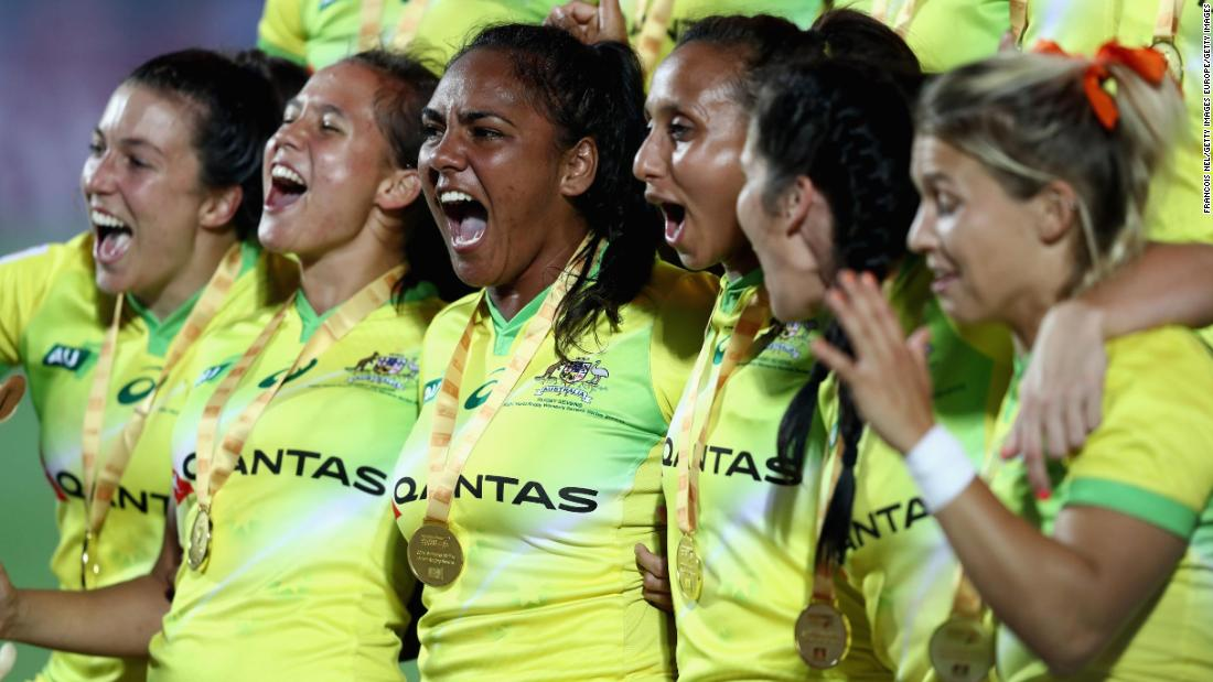 """Having finished second to New Zealand in last season's overall standings, Australia's women got their campaign off to winning ways by <a href=""""http://edition.cnn.com/2017/12/04/sport/rugby-sevens-world-series-dubai-round-one-south-africa/index.html"""">overwhelming the US 34-0</a> in the opening tournament in Dubai."""