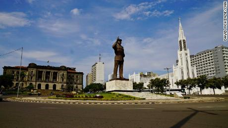 A statue of Samora Machel in downtown Maputo. The statue was built by Mansudae, a North Korean entity that has built statues and monuments across Africa.
