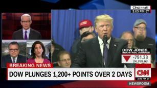 Trump's embarrassing split-screen moment on stocks