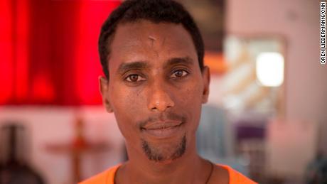 Johnny Goitom arrived in Israel after fleeing Eritrea.