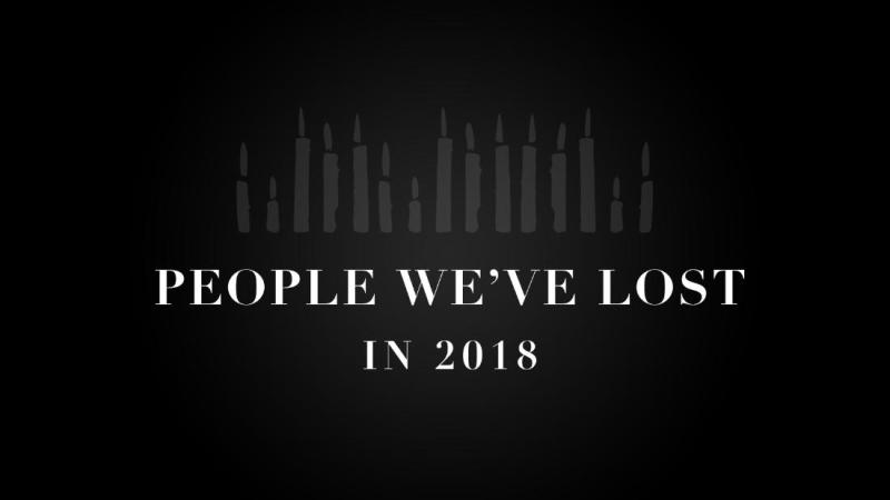 People We lost in 2018 slate