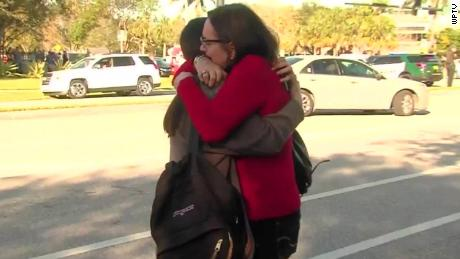 Mom's tearful reunion after shooting