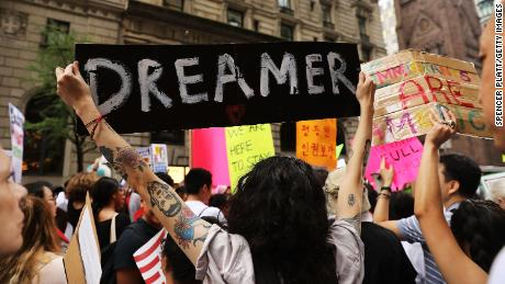 CNN poll: 8 in 10 back DACA, supporters hold Trump, GOP responsible for not extending program