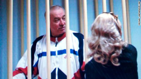 Sergei Skripal speaks to his lawyer from behind bars in 2006.