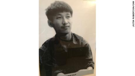 A picture of a young Xi Jinping.