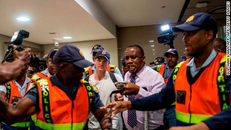 Former captain Steve Smith of the Australian Cricket Team departs at O.R. Tambo International Airport after being caught cheating in the Sunfoil Test Series between Australia and South Africa.