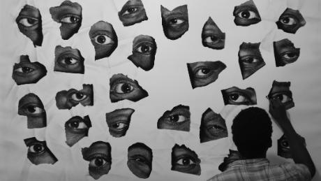 Ken Nwadiogbu's artwork is figurative.