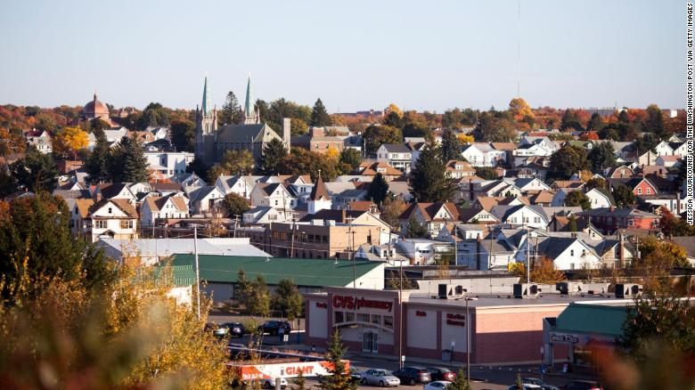 Hazleton, shown in October 2016, has experienced tension over an influx of immigrants.