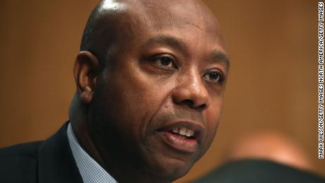 Sen. Tim Scott supports McConnell on not paying reparations for slavery