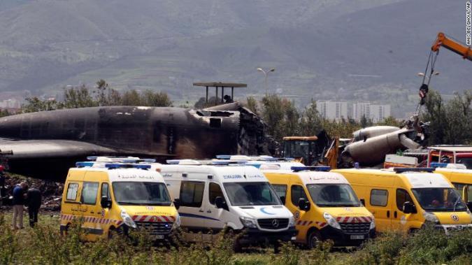 Cranes began moving the debris as paramedics responded to the crash.