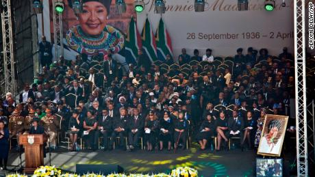 South Africans mourn Winnie Mandela in a massive funeral