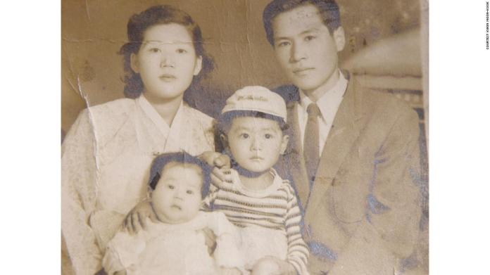 Kwon Moon-kook and his wife and two of his four children.