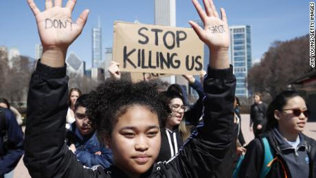 Students demand action on guns with walkout
