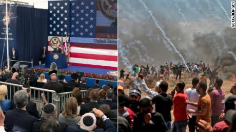 Jerusalem and Gaza -- A world apart