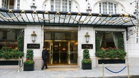 The luxury Bristol Hotel in Paris.