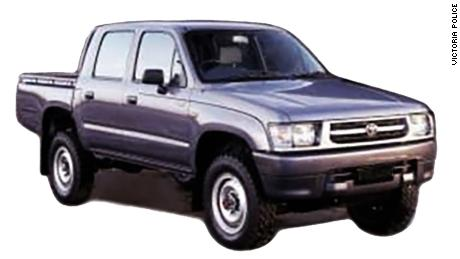 The image of the car police released which was seen at the scene.