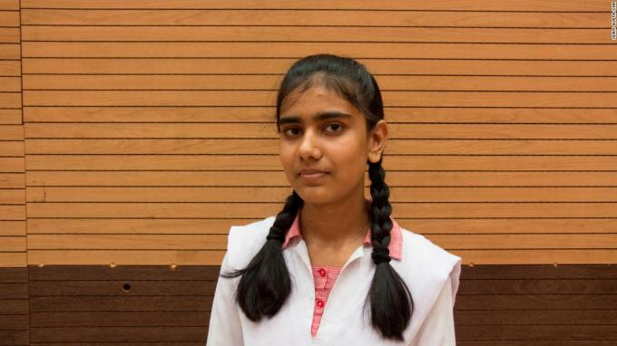 Sadia Habib is a student at a New Delhi school and is learning to protect herself.