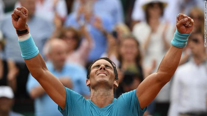 Rafael Nadal won his record-extending 11th title at the French Open when he beat Dominic Thiem on Sunday in Paris.