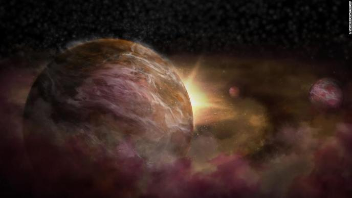 Planets don't just appear out of thin air -- but they do require gas, dust and other processes not fully understood by astronomers. This is an artist's impression of what