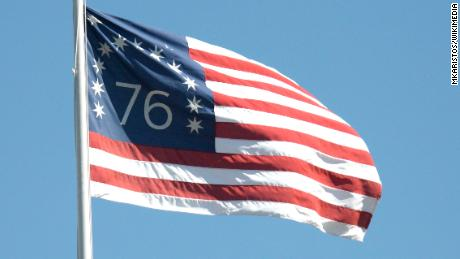The Bennington flag was flown in the Battle of Bennington in 1777 by Nathaniel Fillmore, grandfather of President Millard Fillmore. Some dispute that this actual flag was flown at the battle, or that Fillmore actually flew it, but it remains a popular design today.