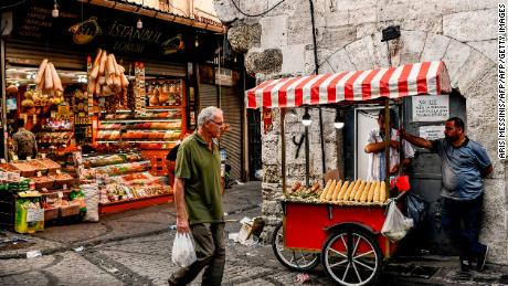 Turkish people are feeling the pinch of 12% inflation.