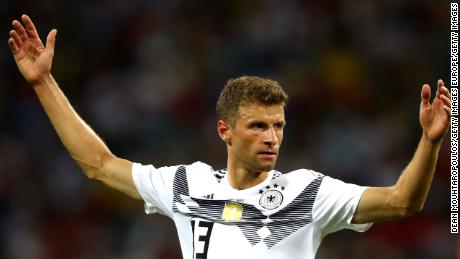 Germany's attack were frustrated and uninspired for large periods of the game.