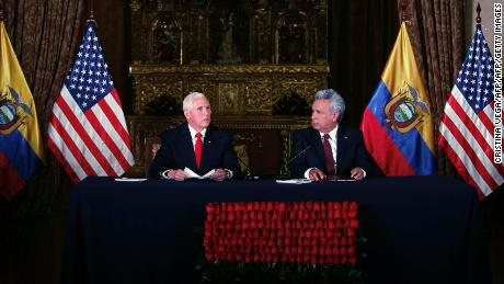 Pence: Crisis in Venezuela threat to US, regional security