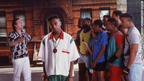 """Spike Lee (center) is shown on the set of his film """"Do the Right Thing."""""""
