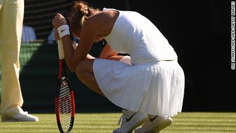 Petra Kvitova, the two-time Wimbledon champion, lost in three sets to Aliaksandra Sasnovich at Wimbledon.