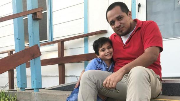 Walter Armando Jimenez Melendez was reunited with his 4-year-old son, Jeremy Issac Jimenez, after being apart for 43 days.