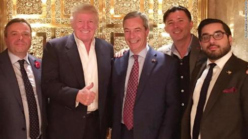 Image result for arron banks and trump