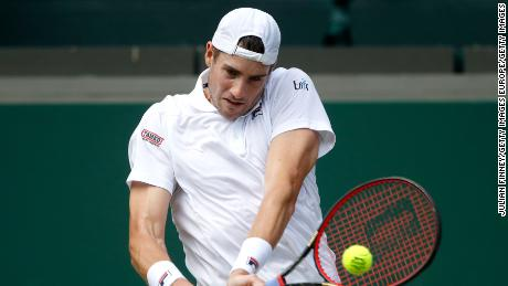 Isner had 129 winners, while Anderson hit 118.