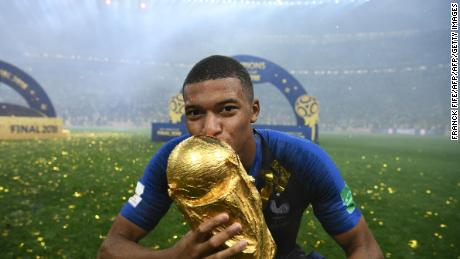 France forward Mbappe was named the best young player at Russia 2018.
