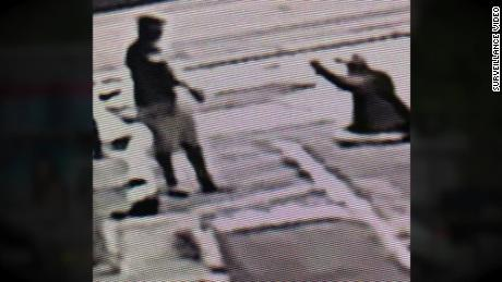 A still photo from a surveillance camera showing Michael Drejka shooting Markeis McGlockton on July 19, 2018.